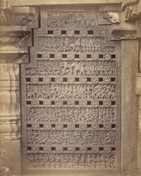 Richly-carved, perforated stone window, Narsapur 10032619